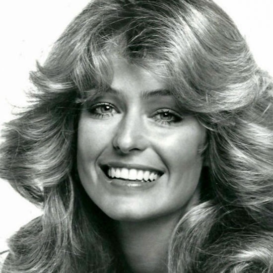 Farrah Fawcett as the Village Idiot