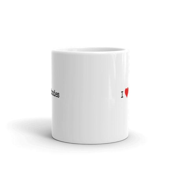 11oz Front I Heart Blondes Coffee Mug