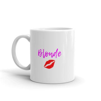 11oz Left Blonde Lipstick Kiss Coffee Mug