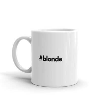 11oz Left Hashtag blonde Coffee Mug