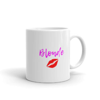 11oz Right Blonde Lipstick Kiss Coffee Mug