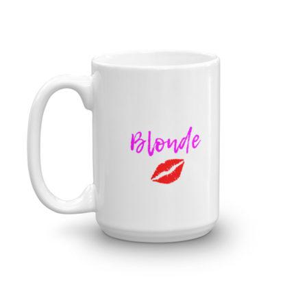 15oz Left Blonde Lipstick Kiss Coffee Mug