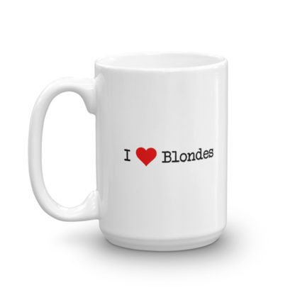15oz Left I Heart Blondes Coffee Mug