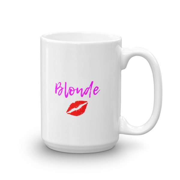 15oz Right Blonde Lipstick Kiss Coffee Mug