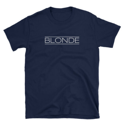 Blonde Navy Short-Sleeve Women's T-Shirt