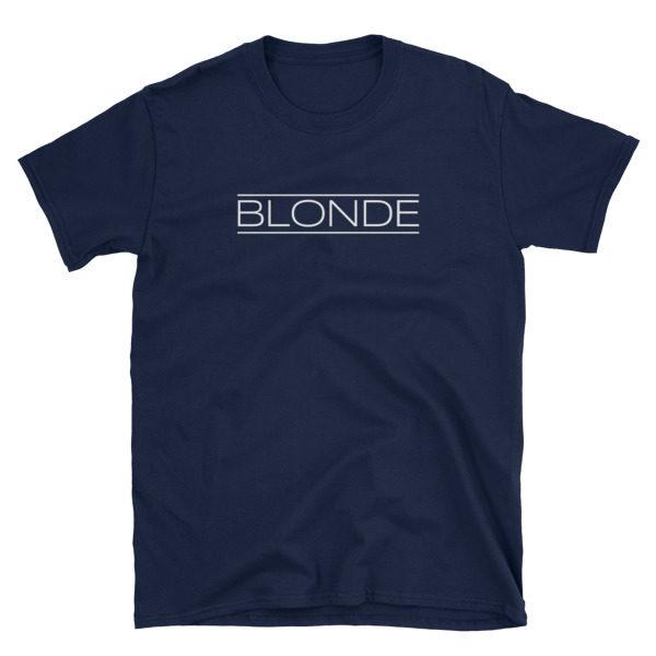 Blonde Navy Short-Sleeve Women's T-Shirt