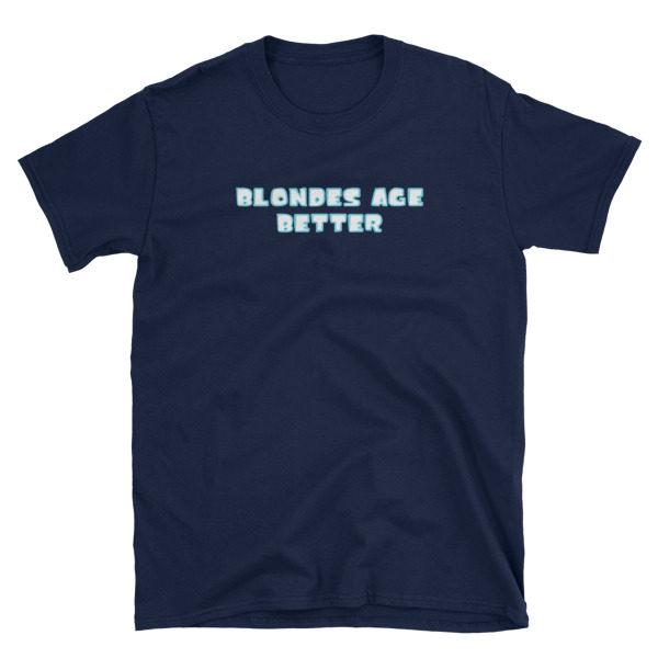 Blondes Age Better Navy Short-Sleeve Women's T-Shirt
