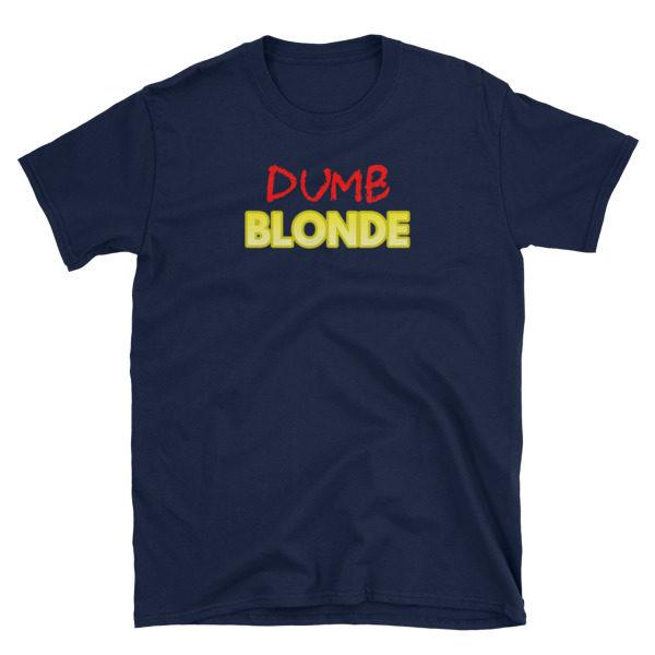 Dumb Blonde Navy Short-Sleeve Men's T-Shirt