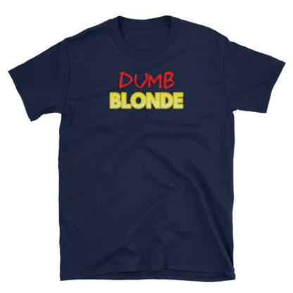 Dumb Blonde Navy Short-Sleeve Women's T-Shirt
