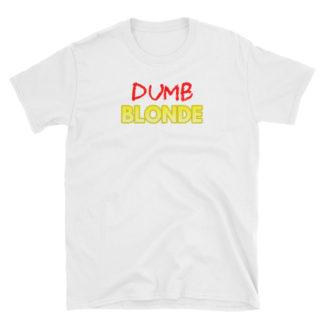 Dumb Blonde White Short-Sleeve Men's T-Shirt