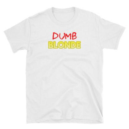 Dumb Blonde White Short-Sleeve Women's T-Shirt