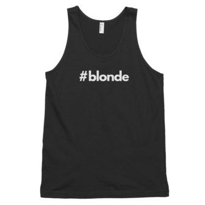 Hashtag blonde Black Classic Men's Tank Top