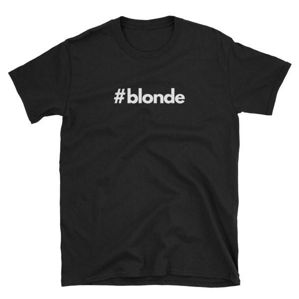 Hashtag blonde Black Short-Sleeve Men's T-Shirt