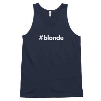Hashtag blonde Navy Classic Men's Tank Top