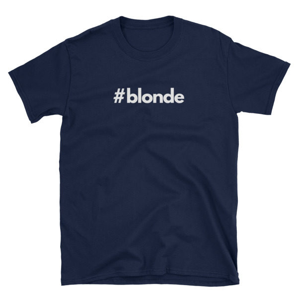 Hashtag blonde Navy Short-Sleeve Men's T-Shirt