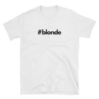 Hashtag blonde White Short-Sleeve Men's T-Shirt