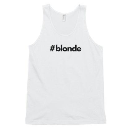 Hashtag blonde White Classic Men's Tank Top