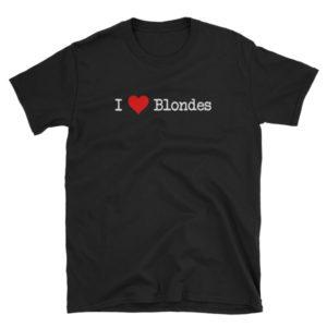 I Love Blondes - Short-Sleeve Men's T-Shirt (Dark)