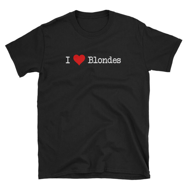 I Heart Blondes Black Short-Sleeve Men's T-Shirt
