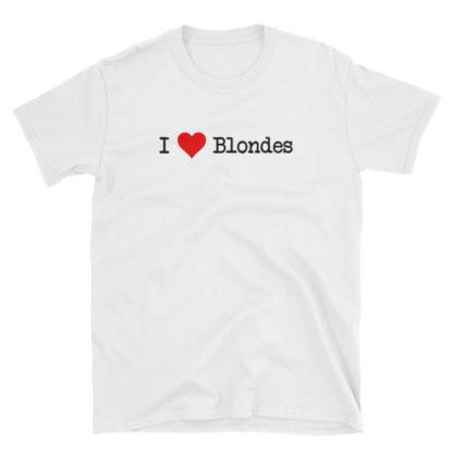 I Heart Blondes White Short-Sleeve Men's T-Shirt