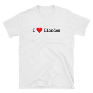 I Heart Blondes White Short-Sleeve Women's T-Shirt