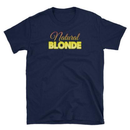 Natural Blonde Navy Short-Sleeve Women's T-Shirt