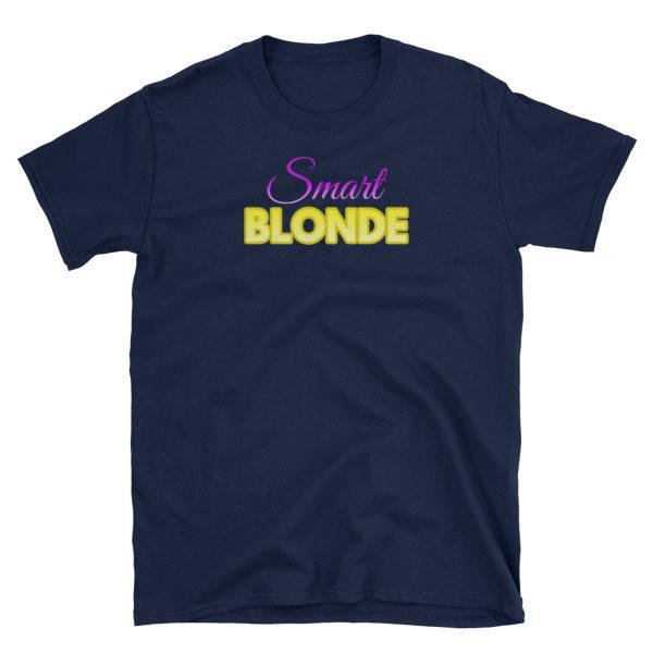 Smart Blonde Navy Short-Sleeve Men's T-Shirt