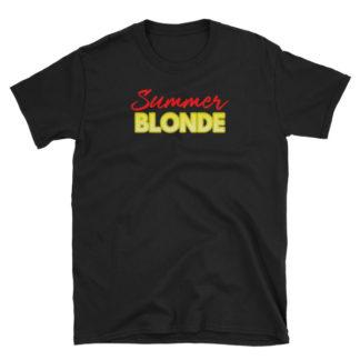Summer Blonde Black Short-Sleeve Women's T-Shirt
