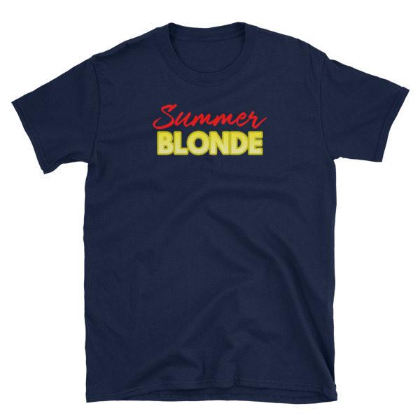 Summer Blonde Navy Short-Sleeve Women's T-Shirt