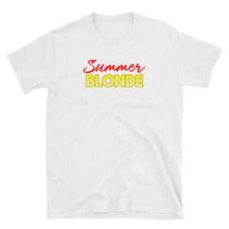 Summer Blonde White Short-Sleeve Women's T-Shirt