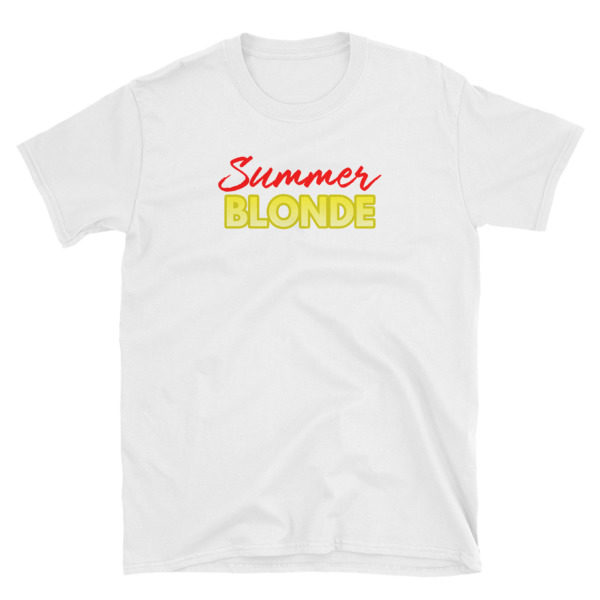 Summer Blonde White Short-Sleeve Women's T-Shirt