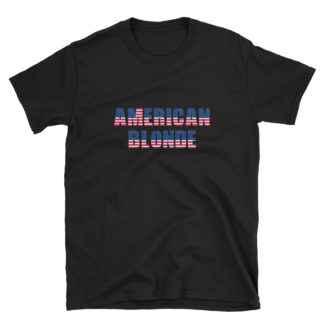 American Blonde Black Short-Sleeve Womens T-Shirt