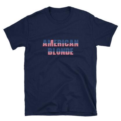 American Blonde Navy Short-Sleeve Mens T-Shirt