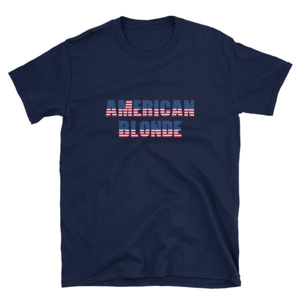 American Blonde Navy Short-Sleeve Womens T-Shirt