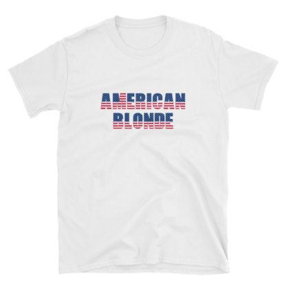 American Blonde White Short-Sleeve Mens T-Shirt