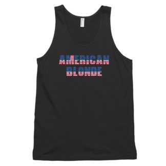 American Blonde Black Classic Mens Tank Top
