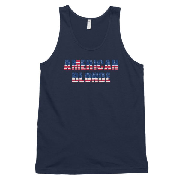 American Blonde Navy Classic Mens Tank Top