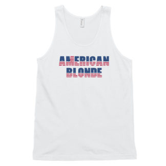 American Blonde White Classic Mens Tank Top