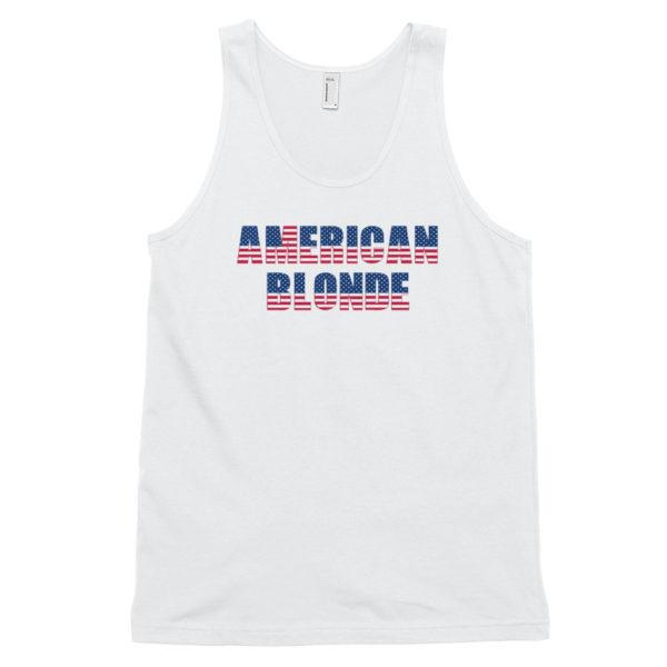 American Blonde White Classic Mens Tank Top