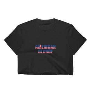 American Blonde - Women's Crop Top (Dark)