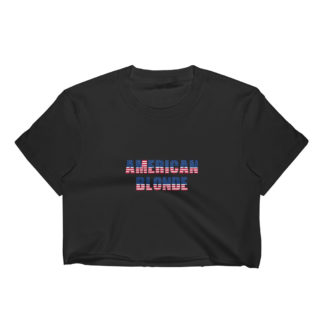American Blonde Dark Womens Crop Top