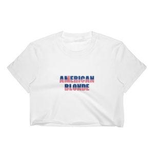 American Blonde - Women's Crop Top (Light)