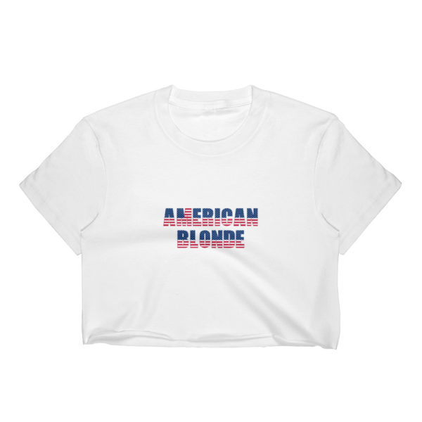 American Blonde Light Womens Crop Top