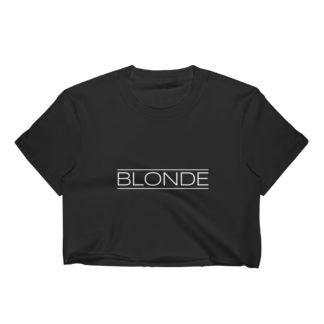 Blonde Womens Crop Top, Dark