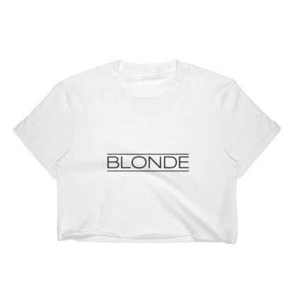 Blonde Womens Crop Top, Light