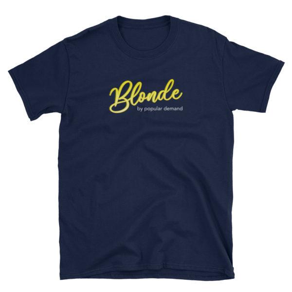 Blonde by Popular Demand - Short-Sleeve Men's T-Shirt (Navy)