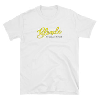 Blonde by Popular Demand - Short-Sleeve Men's T-Shirt (White)