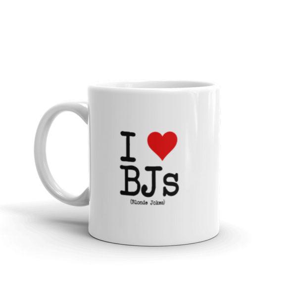 11oz Left I Love BJs Coffee Mug