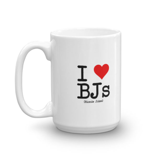 15oz Left I Love BJs Coffee Mug